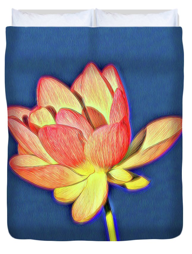 Flower Duvet Cover featuring the photograph Lotus by John Absher