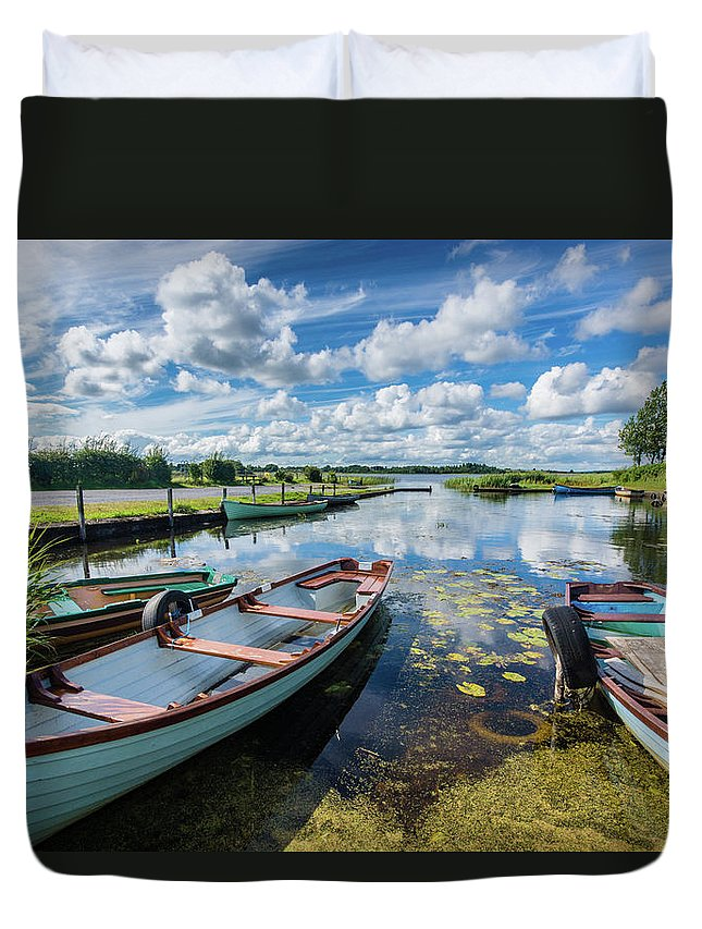 Landscape Duvet Cover featuring the photograph Lough O'Flynn, Roscommon, Ireland by Anthony Lawlor