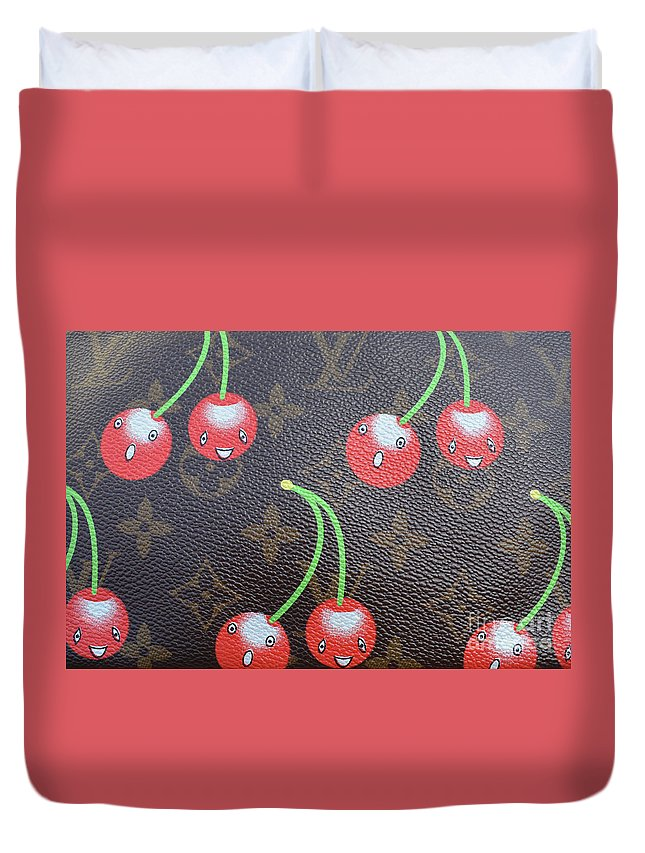Louis Vuitton Duvet Cover featuring the photograph Louis Vuitton Cherries by To-Tam Gerwe