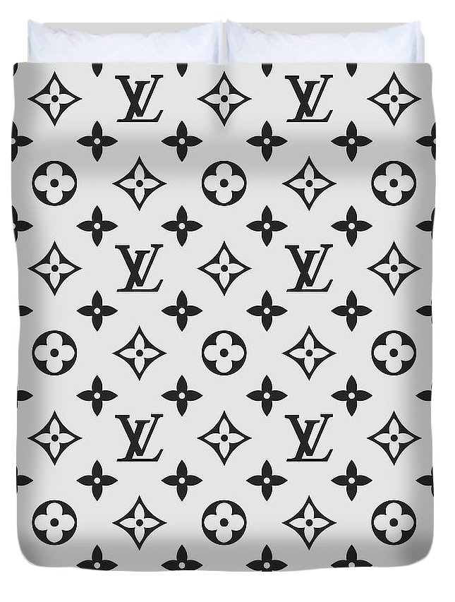 388f69903ad5 Louis Vuitton Duvet Cover featuring the digital art Louis Vuitton Pattern  Lv 07 Grey by TUSCAN