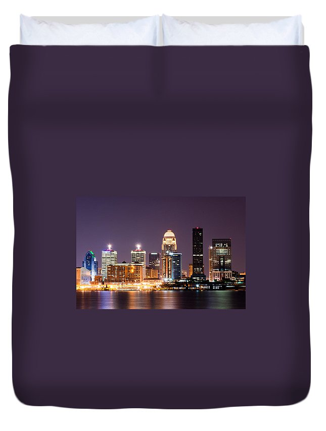 Louisville Duvet Cover featuring the photograph Louisville 1 by Amber Flowers