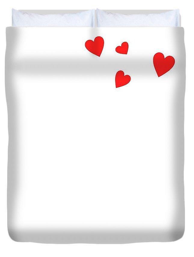 Love Bird Part 3 Duvet Cover featuring the digital art Love Bird Part 3 by Priscilla Wolfe