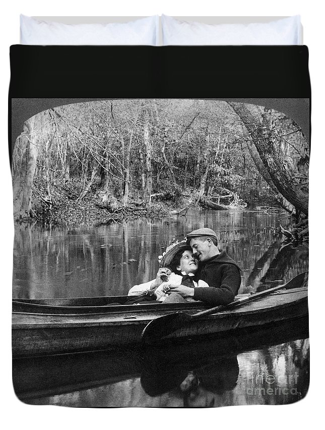 1900 Duvet Cover featuring the photograph Love, C1900 by Granger