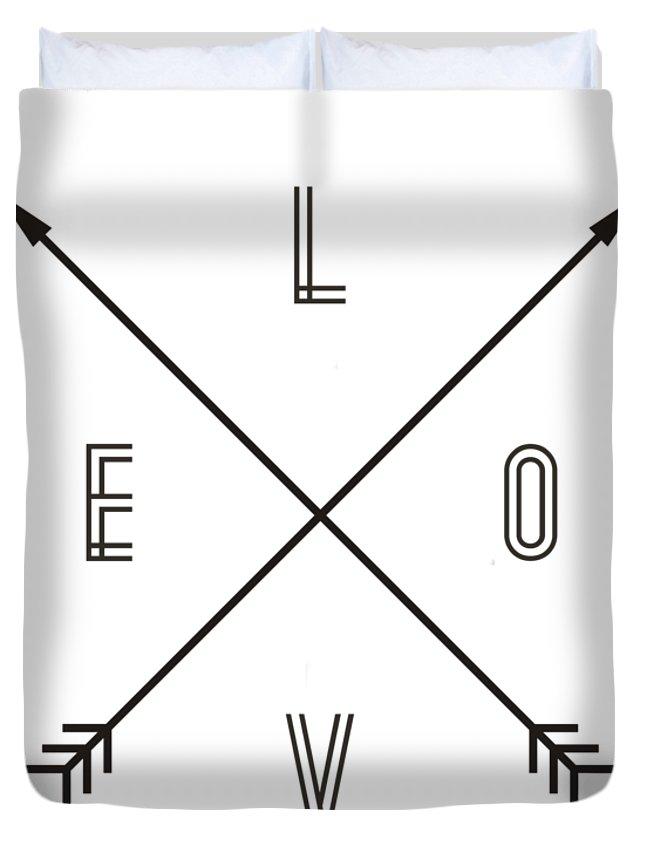 Compass Duvet Cover featuring the digital art Love Compass by Zapista Zapista
