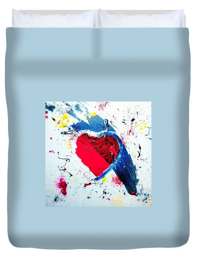 Duvet Cover featuring the mixed media Love Fool by Jonas Sweetchuck Lundstrom
