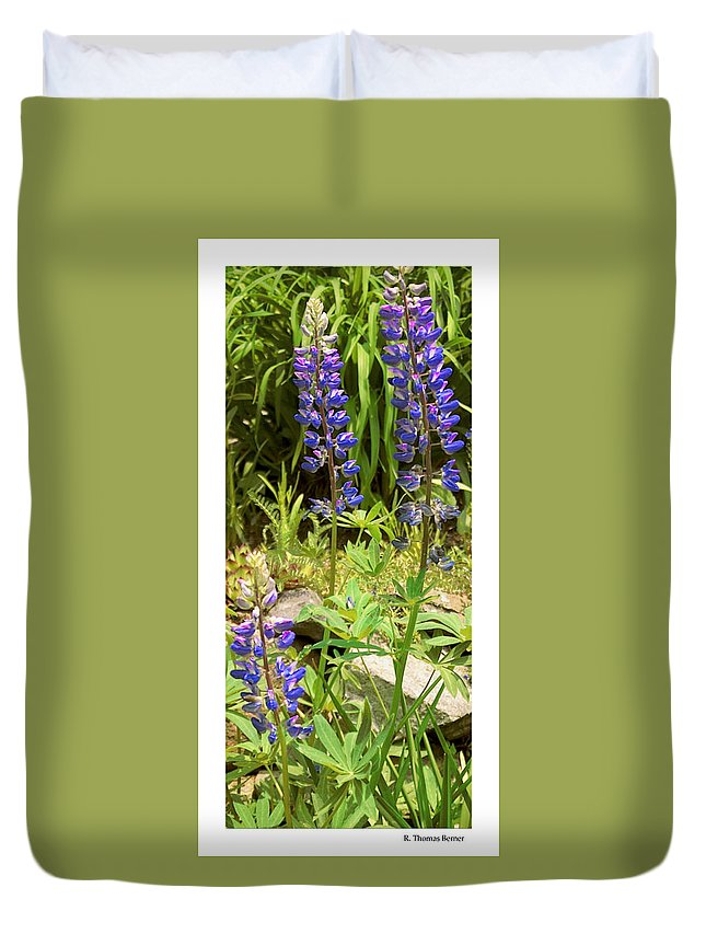 Duvet Cover featuring the photograph Love Garden by R Thomas Berner