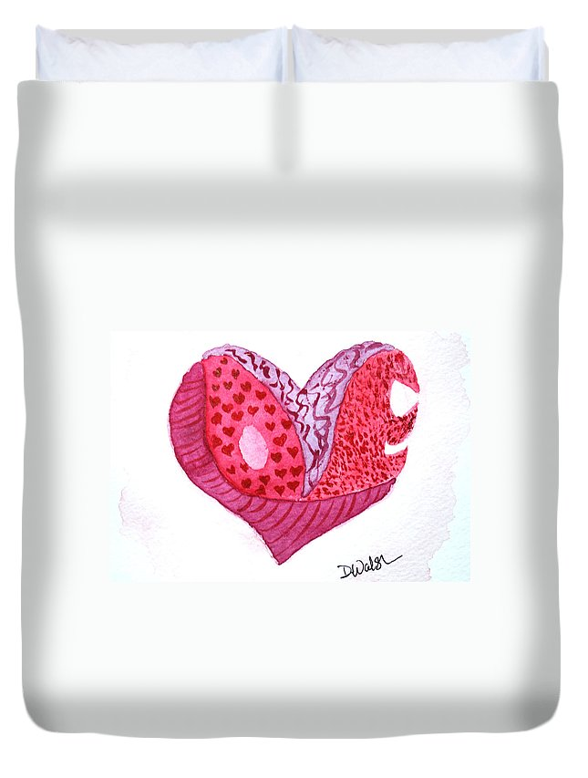 Love Duvet Cover featuring the painting Love Heart by Donna Walsh