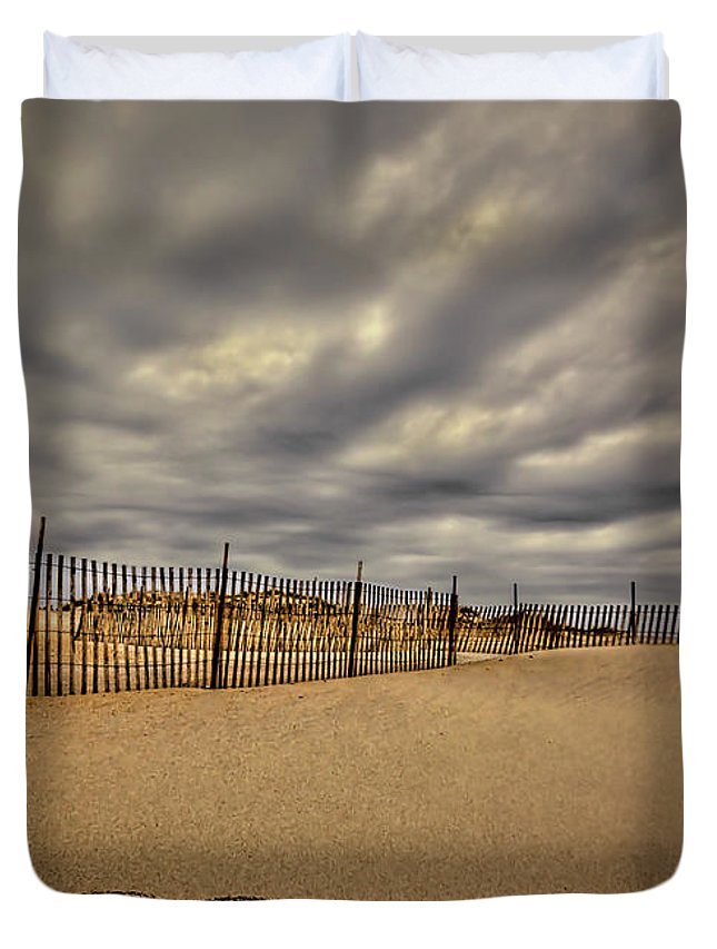 Beach Duvet Cover featuring the photograph Love On The Forecast by Evelina Kremsdorf