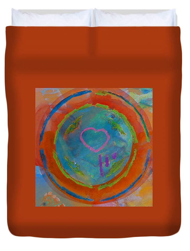 Logo Duvet Cover featuring the painting Love The Sea by Charles Stuart