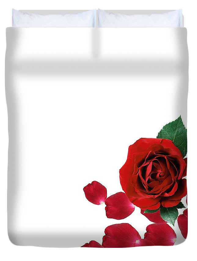 Love You Part 3 Duvet Cover featuring the digital art Love You Part 3 by Priscilla Wolfe