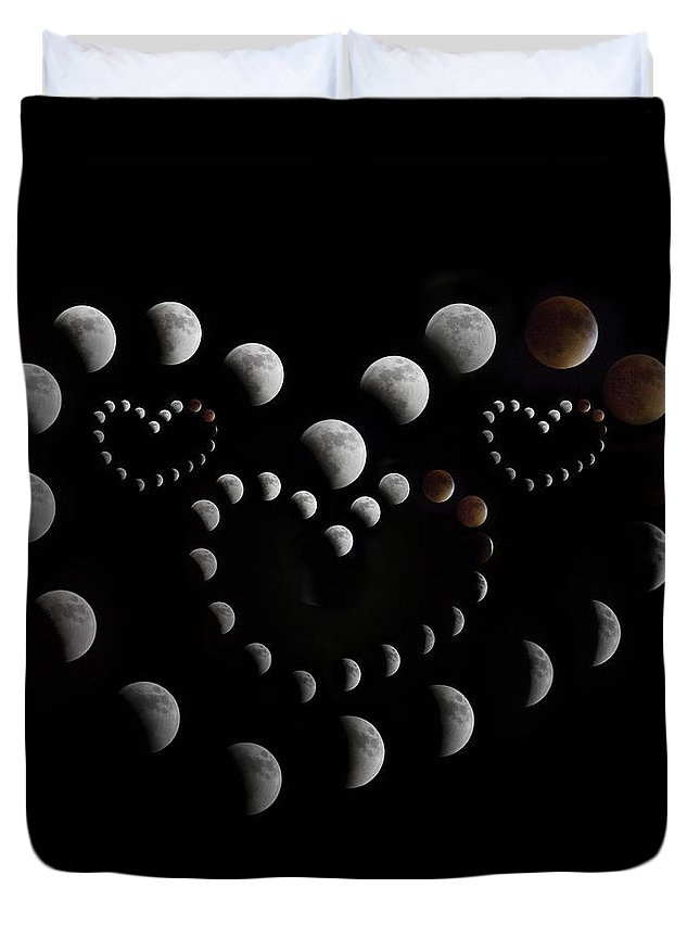 Lunar Duvet Cover featuring the photograph Love You To The Moon And Back by Betsy Knapp