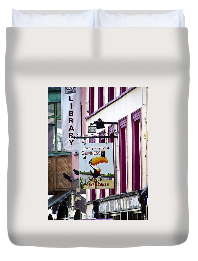 Irish Duvet Cover featuring the photograph Lovely Day For A Guinness Macroom Ireland by Teresa Mucha