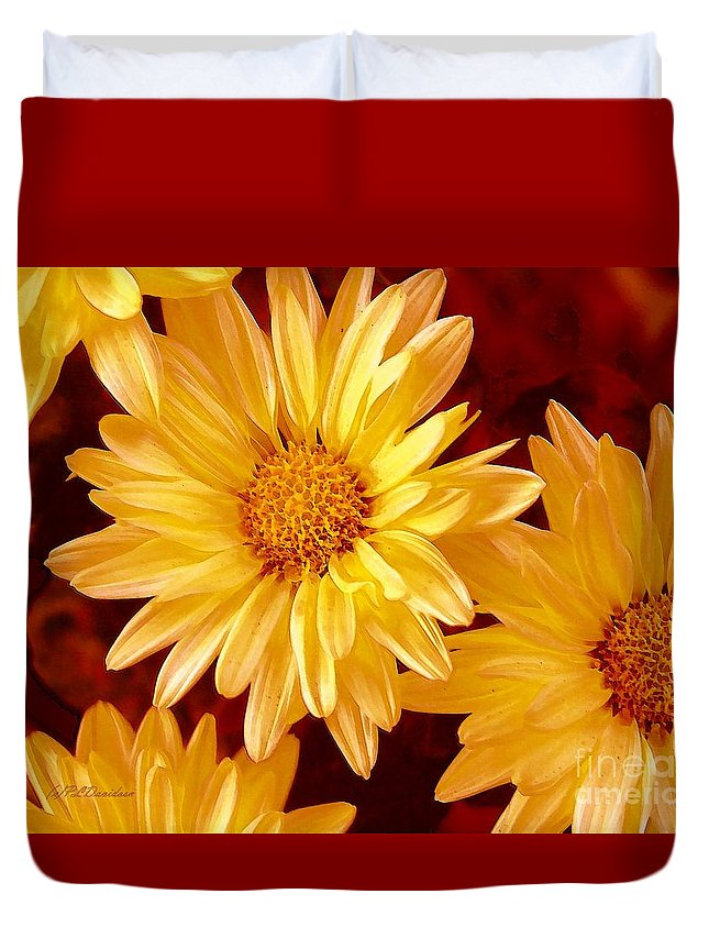 Flowers Duvet Cover featuring the photograph Lovely Mums by Patricia L Davidson