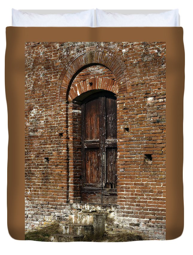 Door Duvet Cover featuring the photograph Lovely Old Door by Marilyn Hunt
