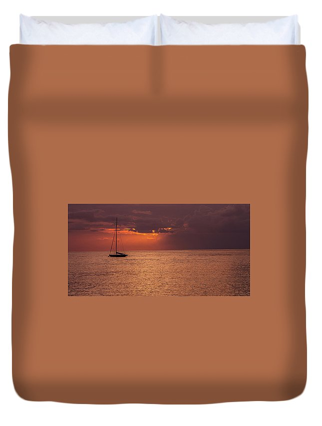 Sailing Duvet Cover featuring the photograph Low Blood Pressure by Fred Boehm