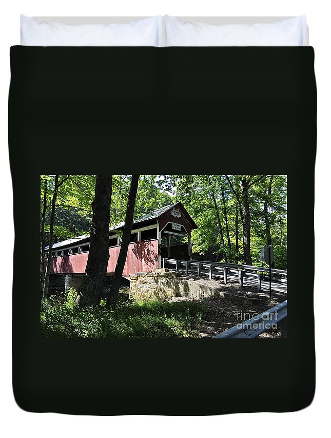 Lower Humbert Bridge Duvet Cover featuring the photograph Lower Humbert Bridge by Penny Neimiller