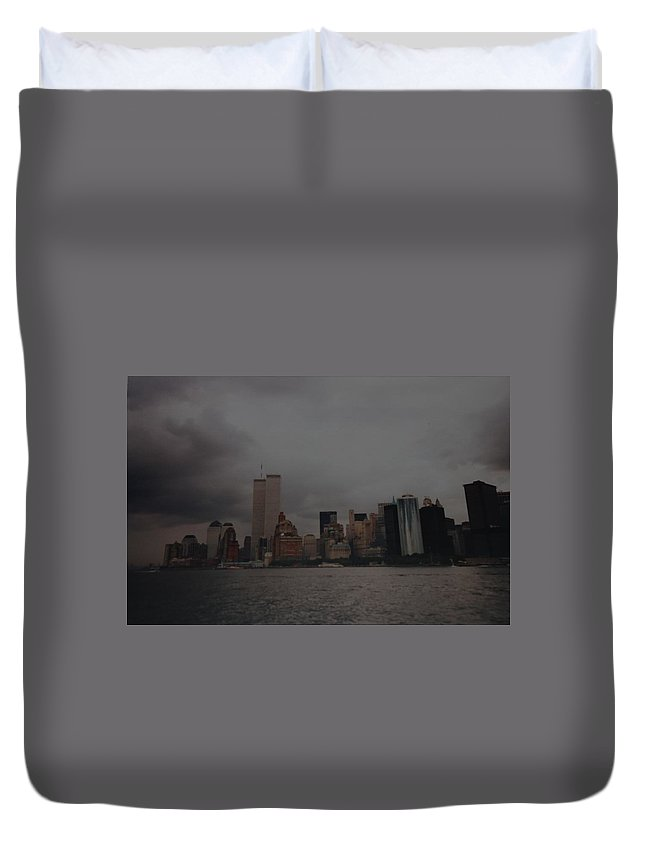 Wtc Duvet Cover featuring the photograph Lower Manhattan by Rob Hans