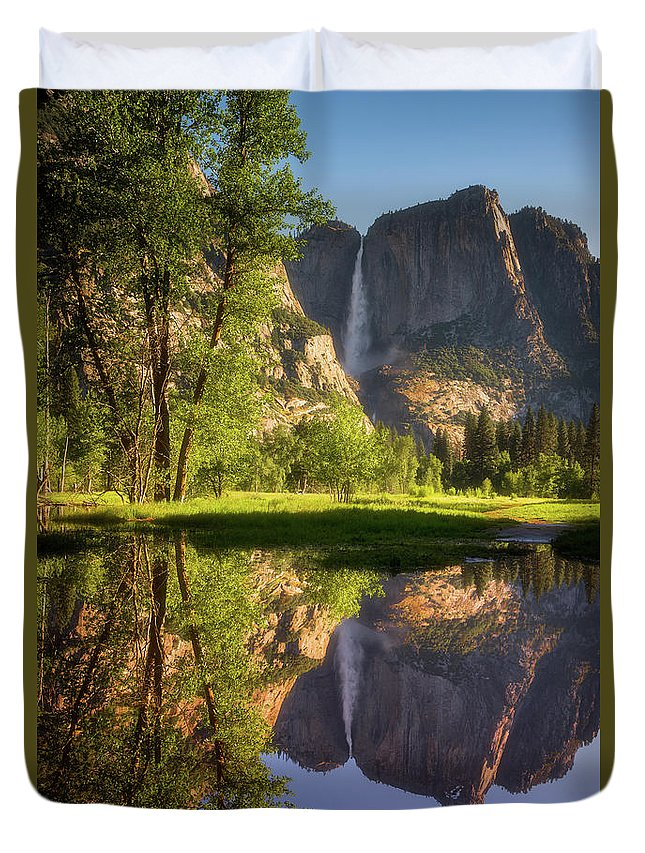 National Park Duvet Cover featuring the photograph Lower Yosemite Morning by Darren White