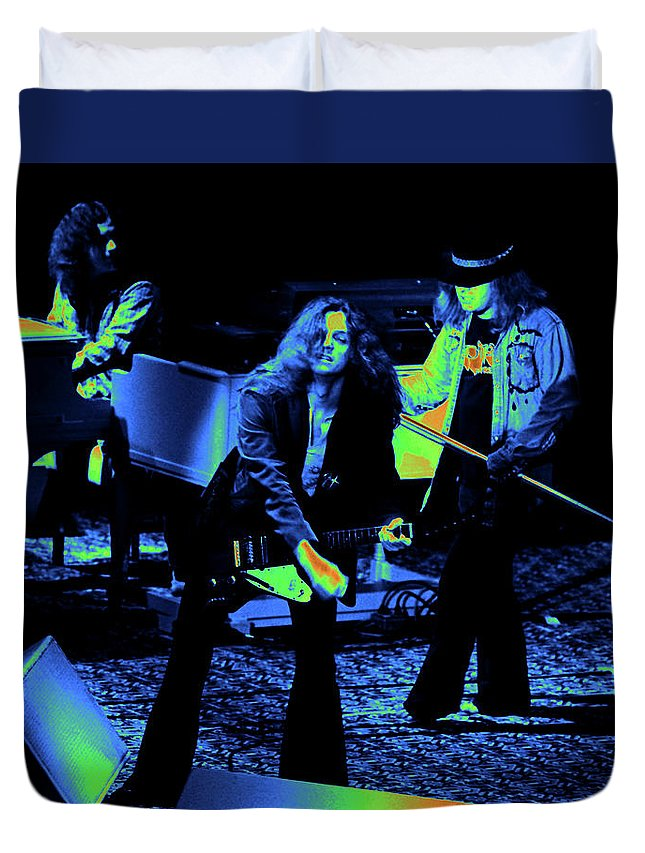 Lynyrd Skynyrd Duvet Cover featuring the photograph Ls #42 Crop 2 Enhanced Cosmically 2 by Ben Upham