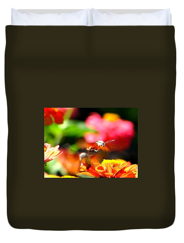 Nature Duvet Cover featuring the photograph Lucky Shot by Ana Maria Edulescu