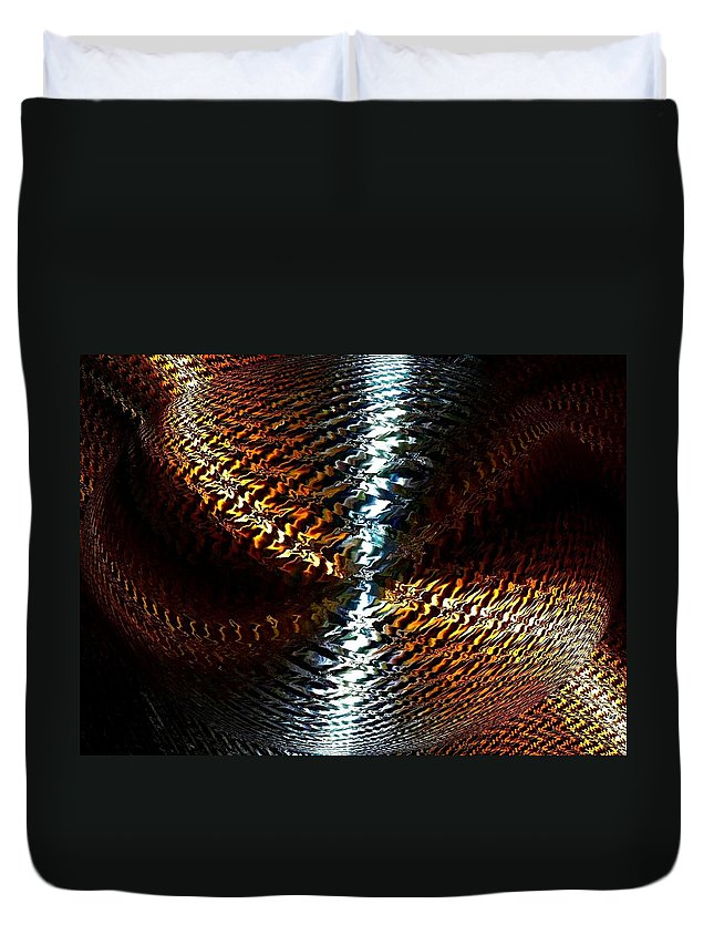 Abstract Duvet Cover featuring the digital art Luminous Energy 10 by Will Borden