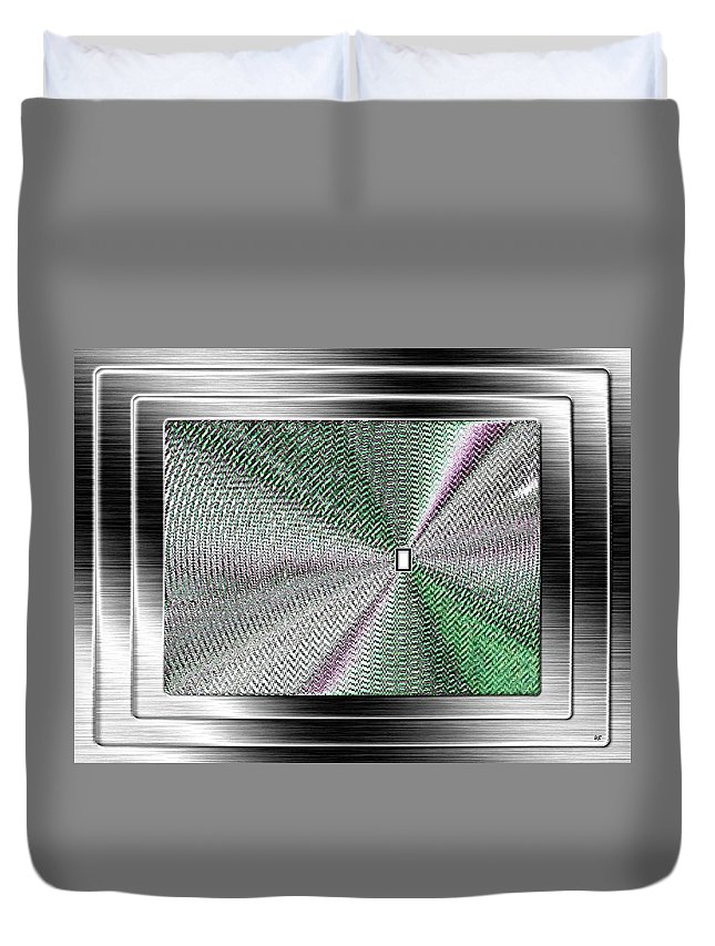 Abstract Duvet Cover featuring the digital art Luminous Energy 13 by Will Borden