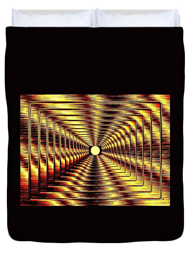 Abstract Duvet Cover featuring the digital art Luminous Energy 2 by Will Borden