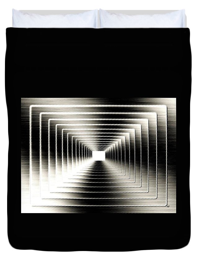 Abstract Duvet Cover featuring the digital art Luminous Energy 3 by Will Borden