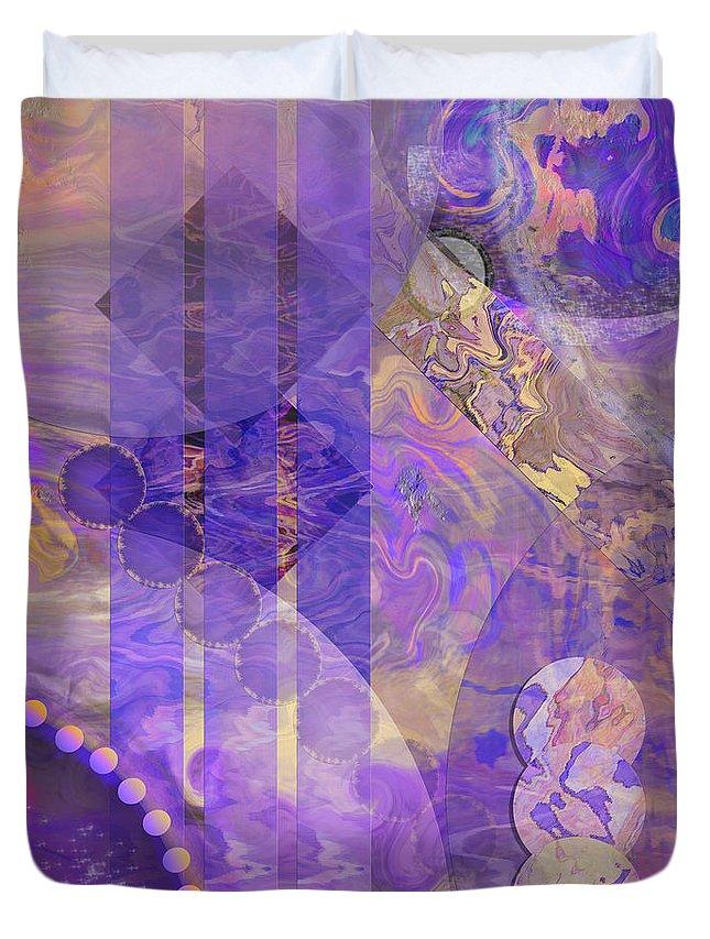 Lunar Impressions 2 Duvet Cover featuring the digital art Lunar Impressions 2 by John Beck