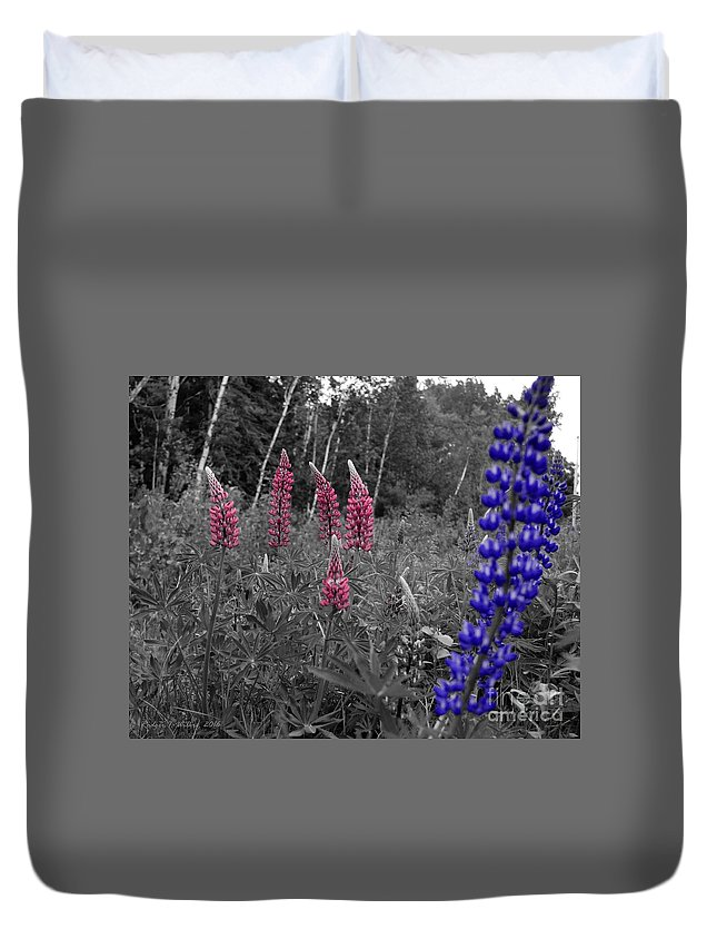 Canada Duvet Cover featuring the photograph Lupins 2016 4a by Rodger Wilkie