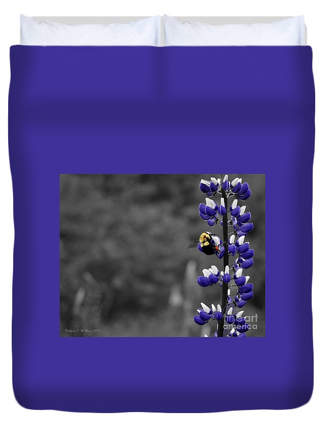 Canada Duvet Cover featuring the photograph Lupins 2016 7a by Rodger Wilkie