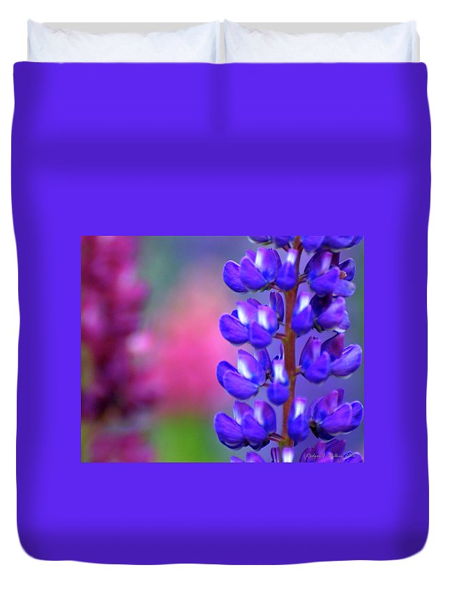 Canada Duvet Cover featuring the photograph Lupins 36 by Rodger Wilkie