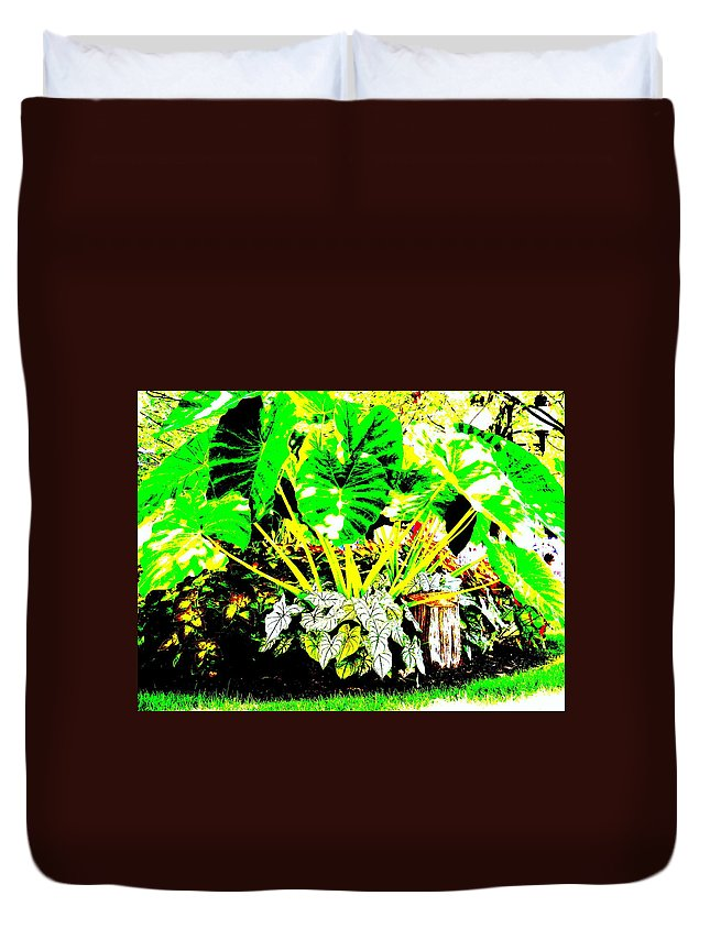 Plants Duvet Cover featuring the photograph Lush Garden by Ed Smith