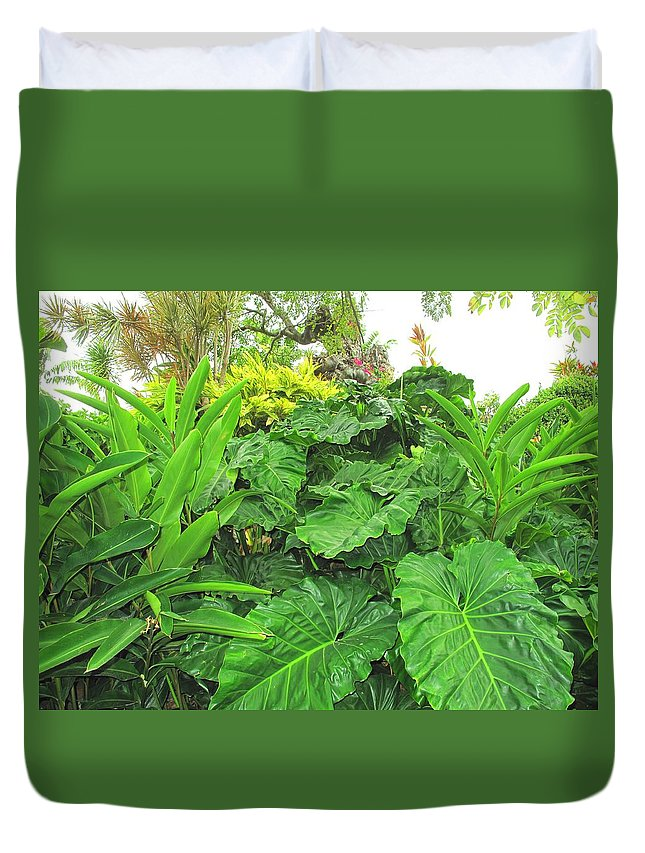 Vegetation Duvet Cover featuring the photograph Lust Too by Ian MacDonald