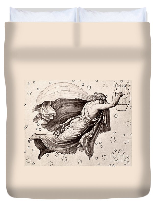 Ancient Duvet Cover featuring the photograph Lyre Of Orpheus by Granger