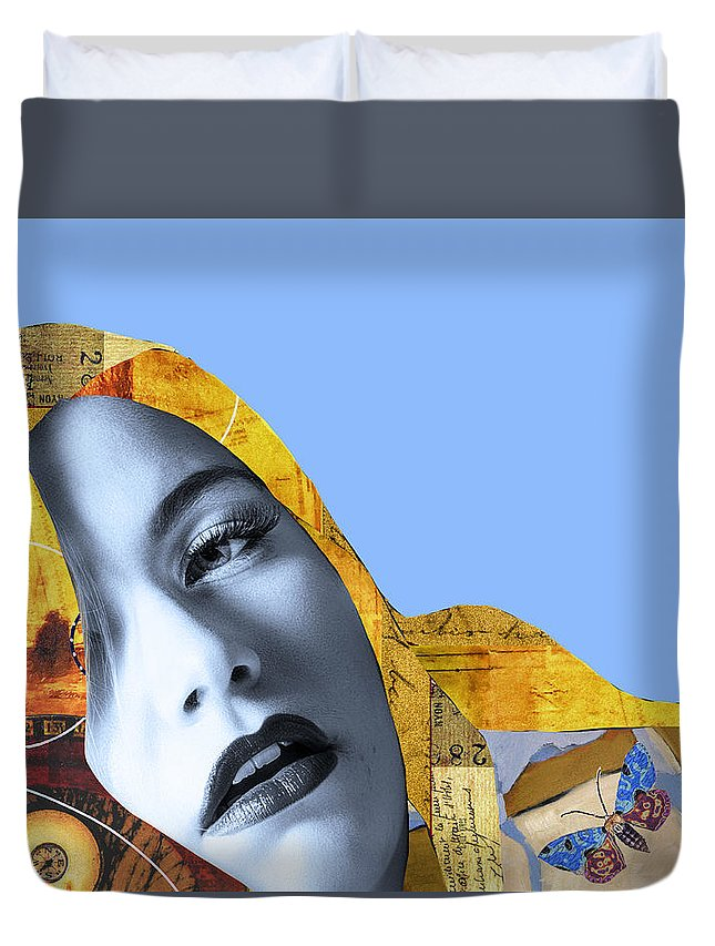 Pop Art Duvet Cover featuring the photograph M. Butterfly by Dominic Piperata