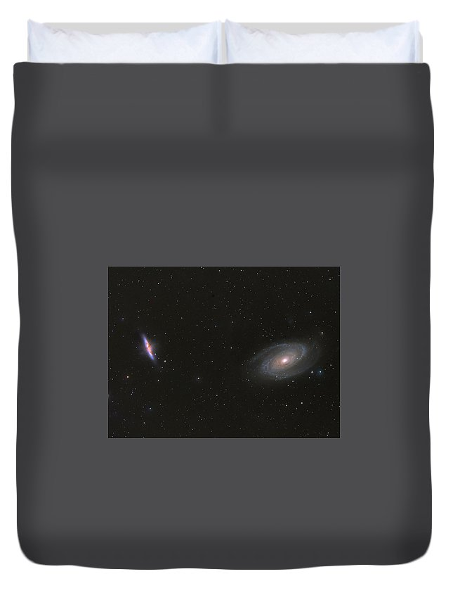 M81 Duvet Cover featuring the photograph M81 And M82 by William Carter
