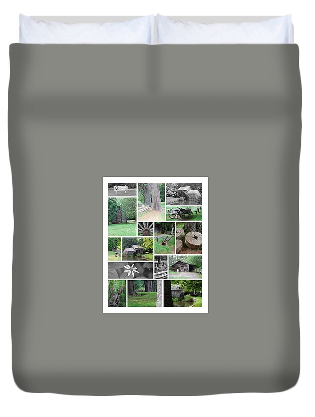 Water Duvet Cover featuring the photograph Mabry Mill by Eric Liller
