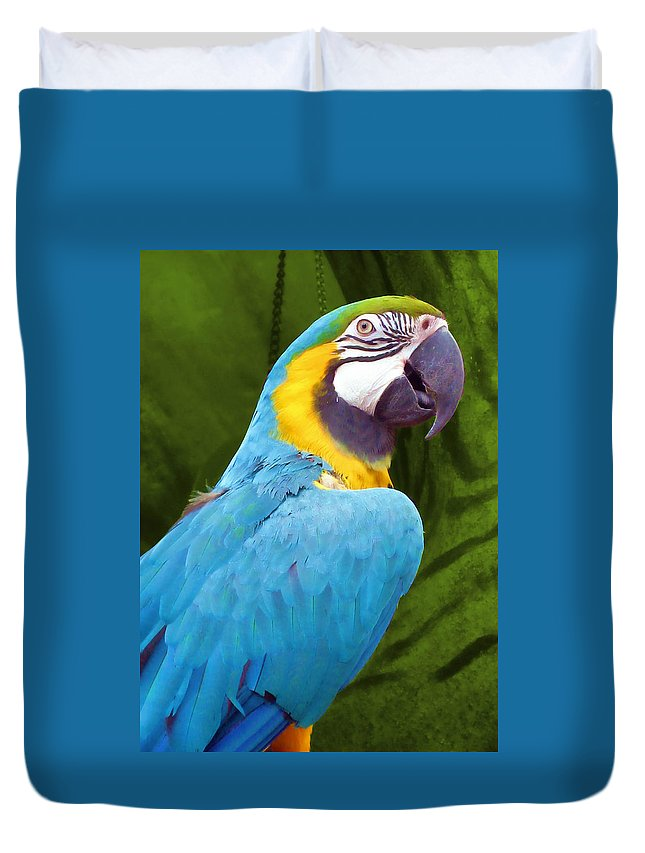 Bird Duvet Cover featuring the photograph Macaw by JAMART Photography