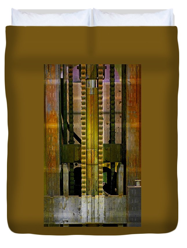 Texture Duvet Cover featuring the photograph Machina by Skip Hunt