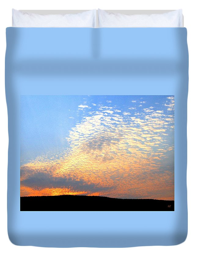 Mackerel Sky Duvet Cover featuring the photograph Mackerel Sky by Will Borden