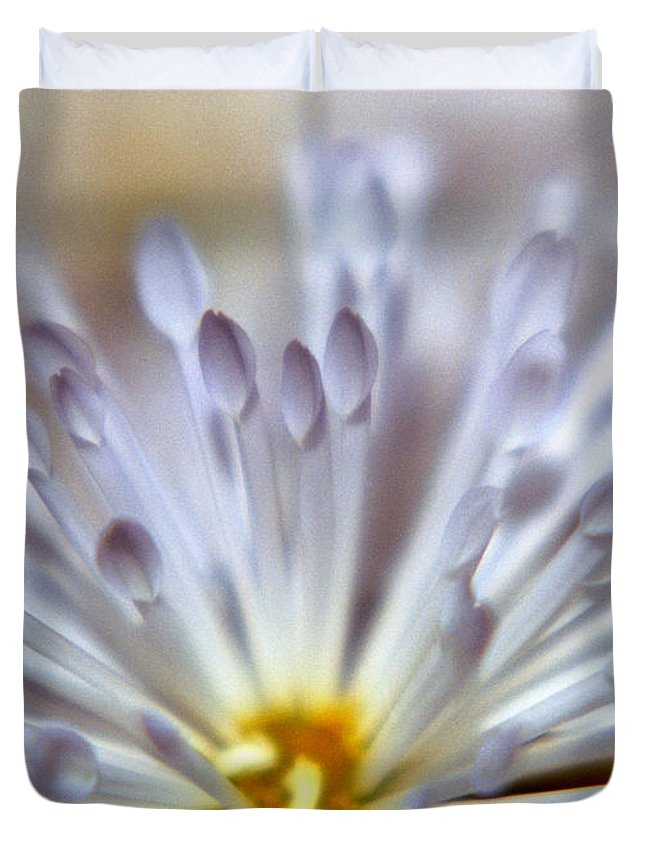 Macro Duvet Cover featuring the photograph Macro Flower 3 by Lee Santa