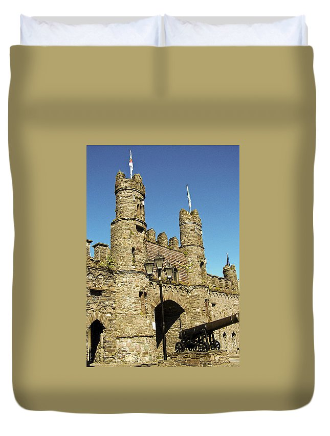 Irish Duvet Cover featuring the photograph Macroom Castle County Cork Ireland by Teresa Mucha