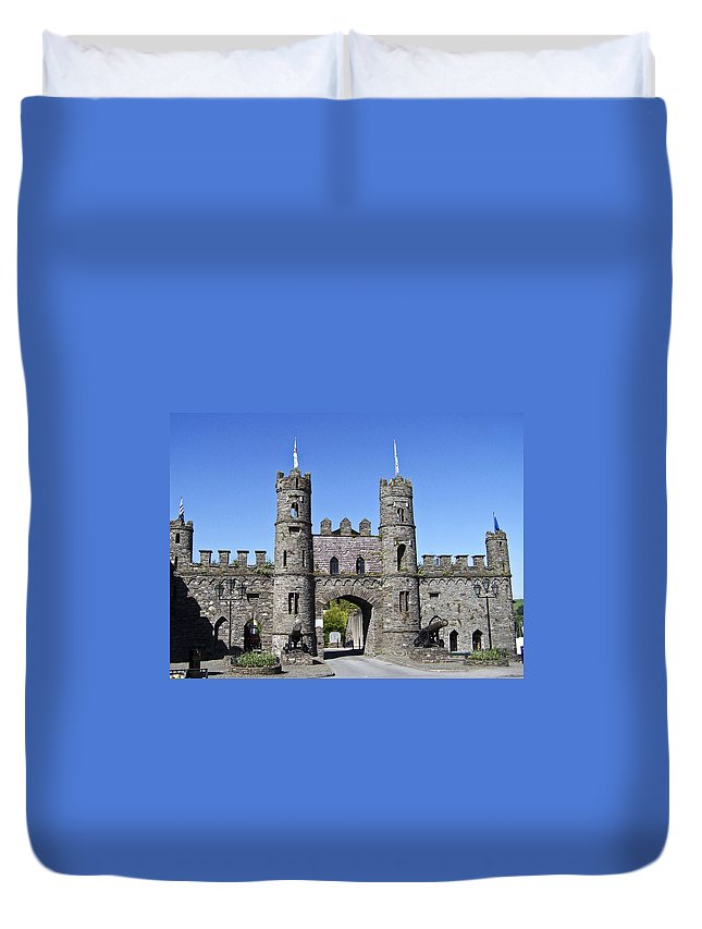 Irish Duvet Cover featuring the photograph Macroom Castle Ireland by Teresa Mucha