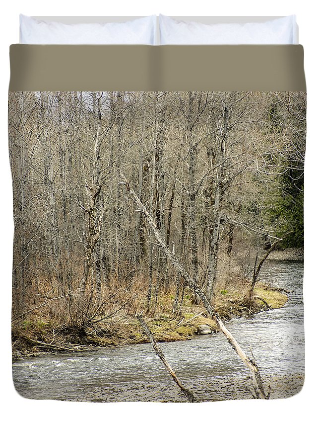 Stream Duvet Cover featuring the photograph Madawaska Stream Bend by William Tasker
