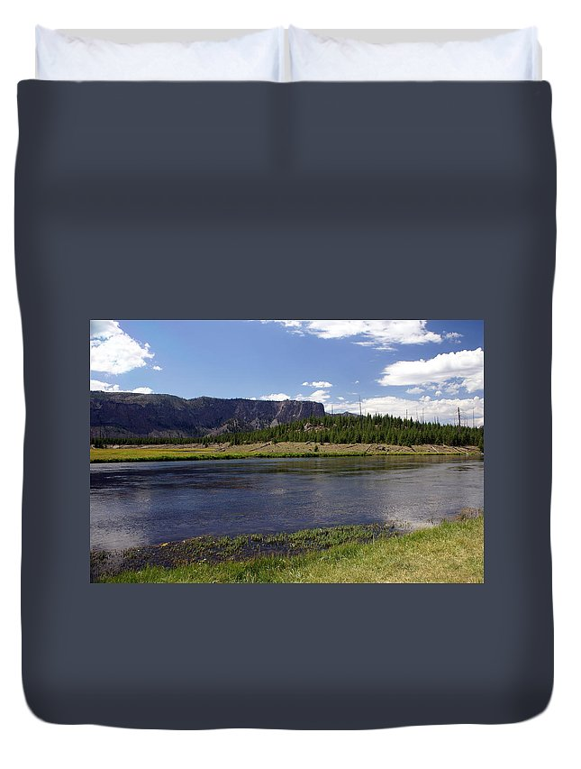 Madison River Duvet Cover featuring the photograph Madison River Valley by Marty Koch