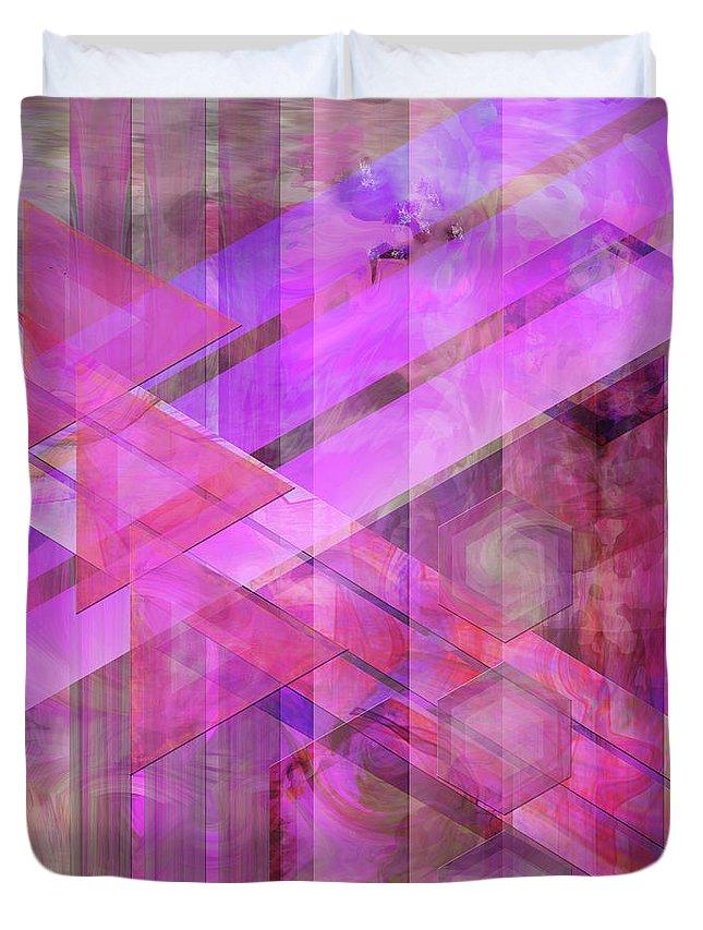 Magenta Haze Duvet Cover featuring the digital art Magenta Haze by John Beck