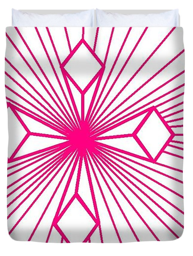 Magenta Lines 1 Duvet Cover For Sale By Linda Velasquez