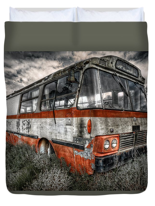 Bus Duvet Cover featuring the photograph Magic Bus by Wayne Sherriff