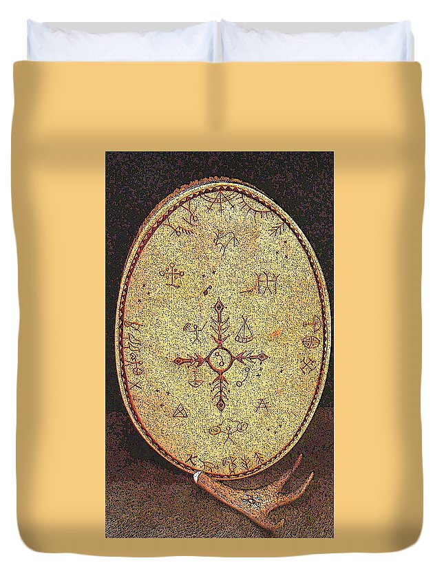 Magic Drum Duvet Cover featuring the photograph Magic Drum by Merja Waters